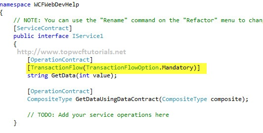 TransactionFlow in WCF