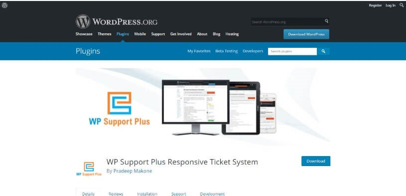 WP Support Plus
